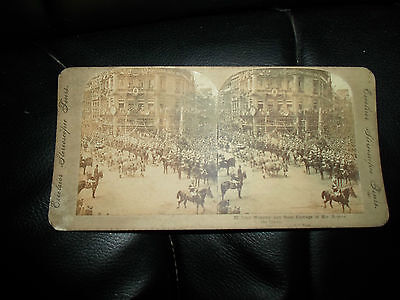 Antique Stereoview ~ Lord Wolseley+State Carriage of Her Majesty the Queen