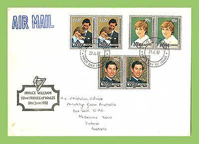 Niue 1982Birth of the Prince of Wales (William) set First Day Cover