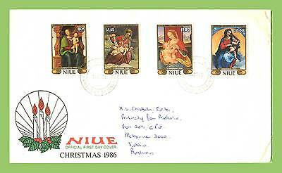 Niue 1986 Christmas Paintings set First Day Cover