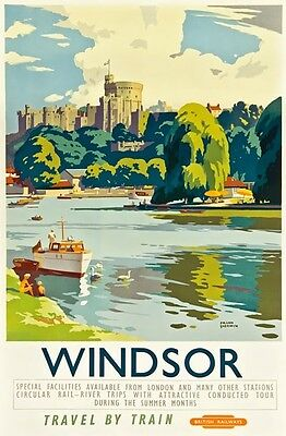 TX340 Vintage Windsor Castle British Railway Travel Poster Re-Print A2/A3/A4