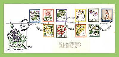 Niue 1969 Flowers definitives on First Day Cover