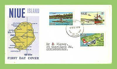 Niue 1970 Opening of Niue Airport set First Day Cover
