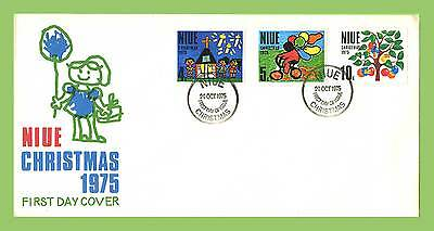 Niue 1975 Christmas set on First Day Cover