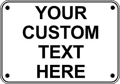 "New Custom Personalized 10"" x 7"" Aluminum Metal Sign Your Custom Text Here"