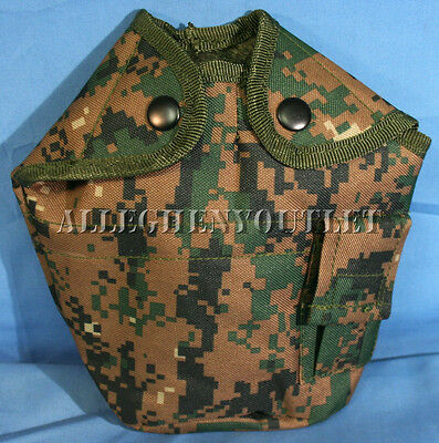 USMC Military STYLE 1 QUART CANTEEN COVER 1QT POUCH CARRIER Woodland Digital NEW