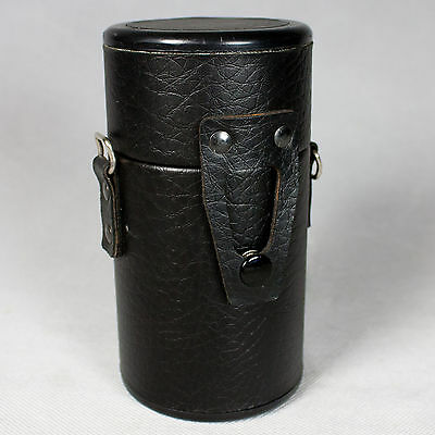 VTG Vivitar Leather Hard Case For Telephoto Zoom Lens Camera Photography Pouch