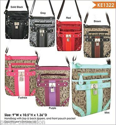 New Wholesale Lot of 20 Women Multi-Color Cross-Body Messenger Bags - with Tag