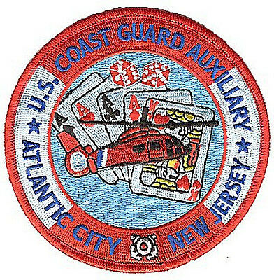 HOOK/LOOP Auxiliary Atlantic City NJ  W4898V USCG Coast Guard patch helo dice