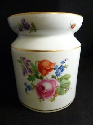 Meissen Floral Tea Caddy  Very Old    SIGNED CROSS SWORDS