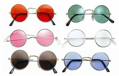John Lennon Noel Gallagher Ozzy Round Frame Fancy Dress Glasses 60's Hippy Oasis