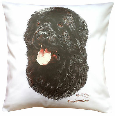 Newfoundland  RM Breed of Dog Themed Cotton Cushion Cover - Perfect Gift