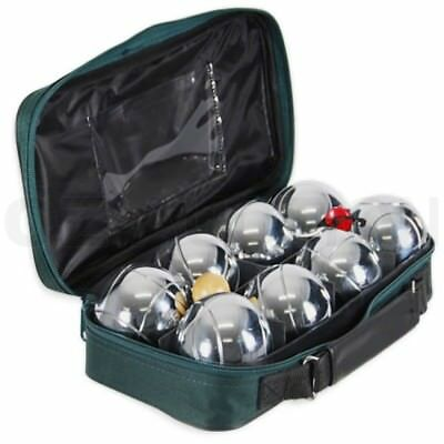 Deluxe Boule 8 Alloy Ball Set in Green Canvas Boules Bocce Petanque Jack Regent