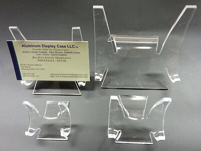 """Acrylic Display Stands fits items 3"""" - 5"""" (pkg of 12) 460501"""