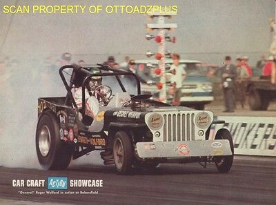 "1967 Jeep - Secret Weapon dragster ""General"" Roger Wolford - Bakersfield poster"