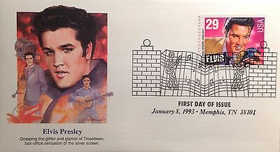 Usa  Fdc 1993  Elvis With Memphis Cancel.