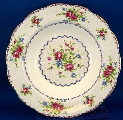 Royal Albert Petit  Point Rimmed Soup Bowl RARE