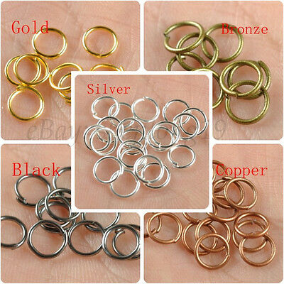 wholesale 4MM 5MM 6MM 7MM 8MM 9MM 10MM Jump Rings Open Connectors