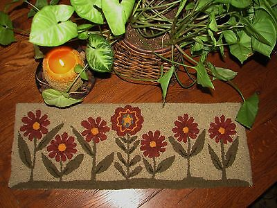 Primitive Hooked Rug Pattern On Monks ~ Dare To Be Different