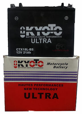 Batteria Kioto Ytx18L-Bs 12V Honda Gl 1500 Gold Wing 88-00 Indian Chief Vintage