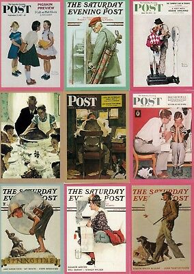 NORMAN ROCKWELL SERIES 1 1993 COMIC IMAGES COMPLETE BASE CARD SET OF 90