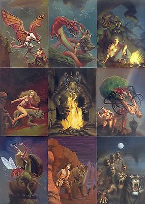 THE BEST OF ROWENA CHROMIUM 1996 FPG COMPLETE BASE CARD SET OF 90 FANTASY ART