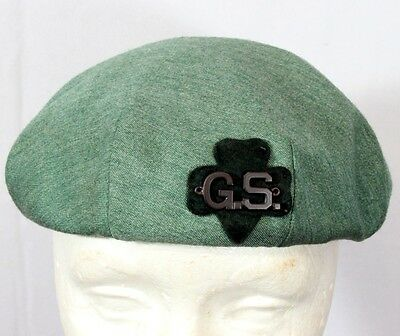 GSA Scout - 1950's Green Beret with sewn-on G.S. letters