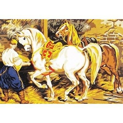 Parade Horses Tapestry Canvas Collection D'Art
