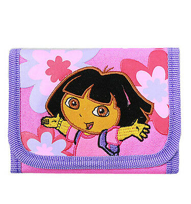Dora the Explorer Flowers Embroidered Kids Trifold Wallet FS-08580