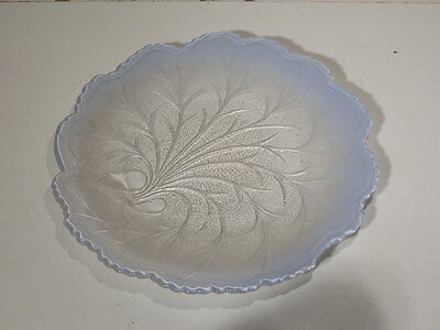 """INDIANA GLASS 10 1/4"""" FROSTED TO CLEAR TREE OF LIFE SERVING PLATE NICE"""