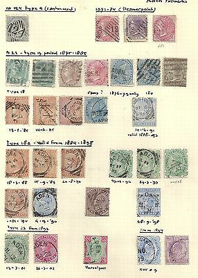 Aden collection of 31 FORERUNNERS numeral 124,steamerpoint etc  HIGH VALUE!