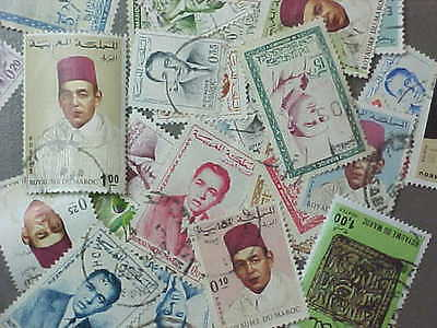 30 Different Morocco Stamp Collection - Lot