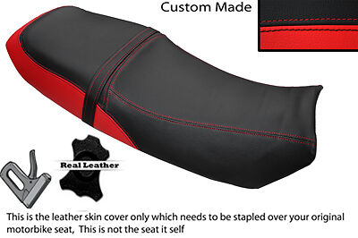 Red & Black Custom Fits Honda Ft 500 Dual Leather Seat Cover Only