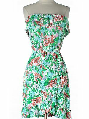 4a187155af5 Ladies Women Lilly Pulitzer Flor Mini Bee In Your Bonnet Strapless Dress  Size XS
