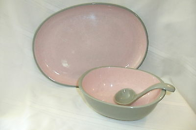 Harkerwear Pale Pink Gravy Laddle and Small Platter