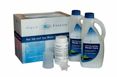 Aqua-Finesse HOT-TUB-BOX Whirl-Pool-Wasser-Pflege-Set 2x2L mit Chlortabletten