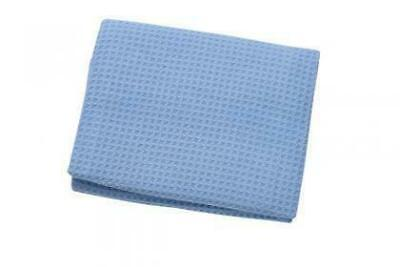2 x Microfibre Waffle Cloths - Blue Size 56cm x 76cm Extra large **NEW* drying