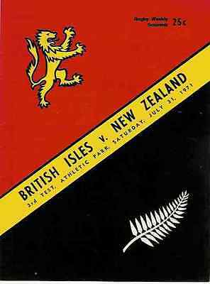 BRITISH LIONS v NEW ZEALAND 3rd TEST 31 Jul 1971 RUGBY PROGRAMME