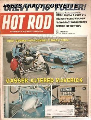 """January 1971 Hot Rod Don """"The Snake"""" Prudhomme Mario Andretti Mexican 1000"""