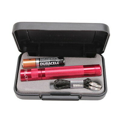 Maglite J3A032 Red Solitaire LED Flashlight w/ Key Chain in Gift Box