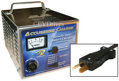 Golf Cart Battery Charger w/ CrowFoot 36 Volts @ 18 Amp (For Club Car, EZGO)