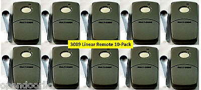 3089 Linear 10PACK Multi-Code Visor Remote Multicode 308911 MCS308911 300mhz