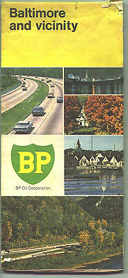 1973 BP Baltimore and Vicinity Vintage Road Map