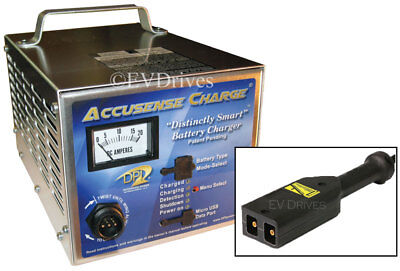DPI Golf Cart Accusense Charger 48V w/ EZ-Go TXT (PowerWise D-Style) Connector
