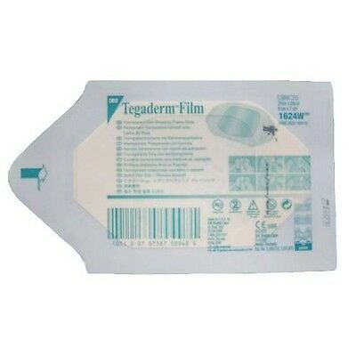 3M Tegaderm Film Dressing. Ref 1624W. 6cm x 7cm. Medical & Tattoo (10 Dressings)