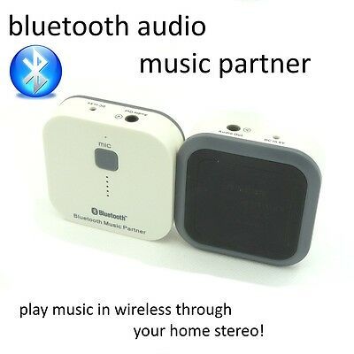 Bluetooth Stereo Audio Wireless Music Partner Receiver for iPhone ipad mobile
