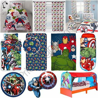 Official Avengers Marvel Comics Bedding + Bedroom Accessories Duvets Curtains