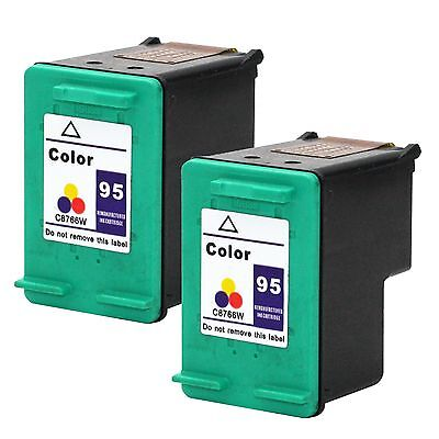 2 PK HP 95 Color Ink Cartridges C8766WN Officejet 100 7210 7310xi 7210v 7410 150
