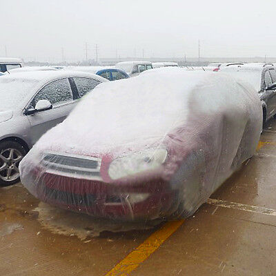 Clear Plastic Temporary Universal Disposable Car Cover, Dust Cover, Rain Cover