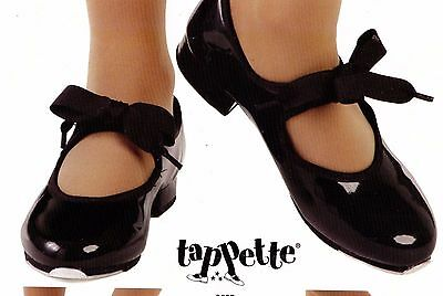 New Tap Shoes ch/ladies sizes Tapette MaryJanes Black Patent Leather TapDance