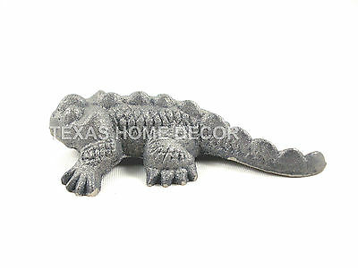 Raw Cast Iron Toad Horned Lizard Horned Frog 6 inches Figurine Paintable